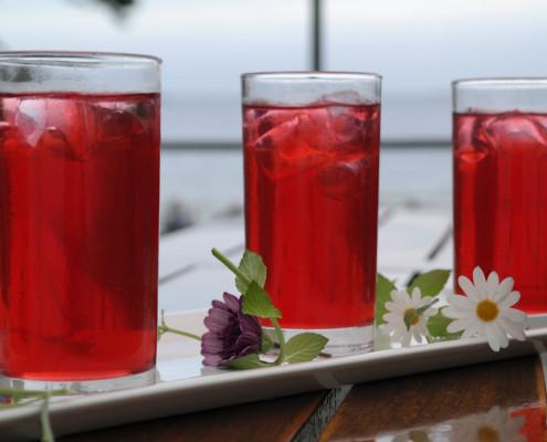 Drikkeklar bringebærsaft